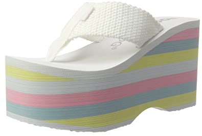 c18358b1058 Rocket Dog Big Top Webbing Womens Flip Flops Sandals-White-6