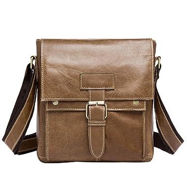 Zhhlinyuan Soft Multi-pocket Crossbody Shoulder Daypack Messenger Bag for Mens