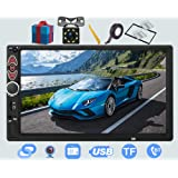 Double Din Car Stereo-7 inch Upgrade Touch Screen Double din car Radio,Compatible with BT TF USB MP5/4/3 Player FM…