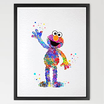 Amazon.com: Dignovel Studios 8X10 Elmo from sesame street Inspired ...
