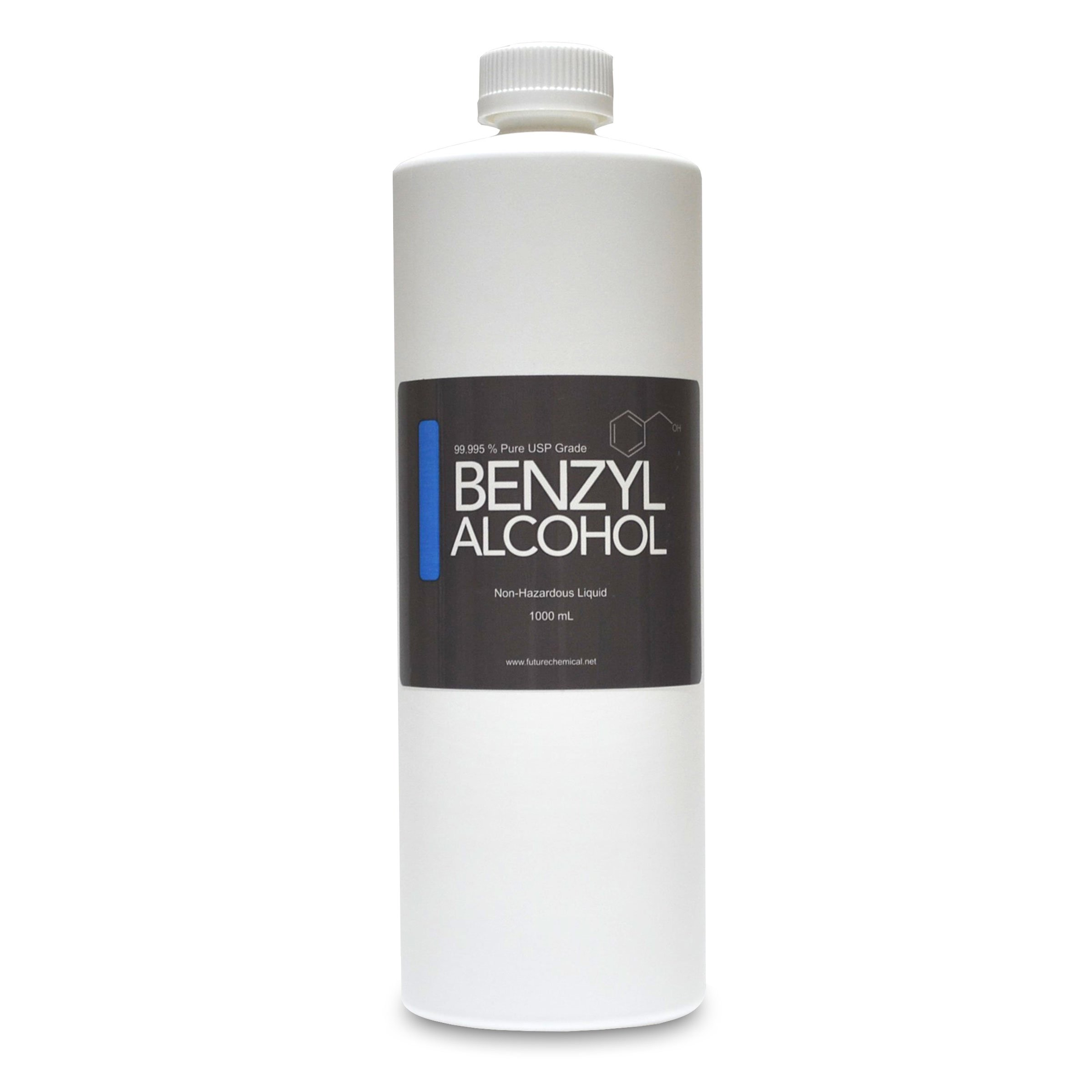 Benzyl Alcohol 1000 ML (32 OZ) USP Grade in Sterile Plastic Bottle (BPA FREE)