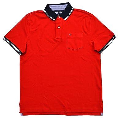 9f2e1bb03 Tommy Hilfiger Mens Custom Fit Interlock Pocket Polo Shirt at Amazon Men s  Clothing store
