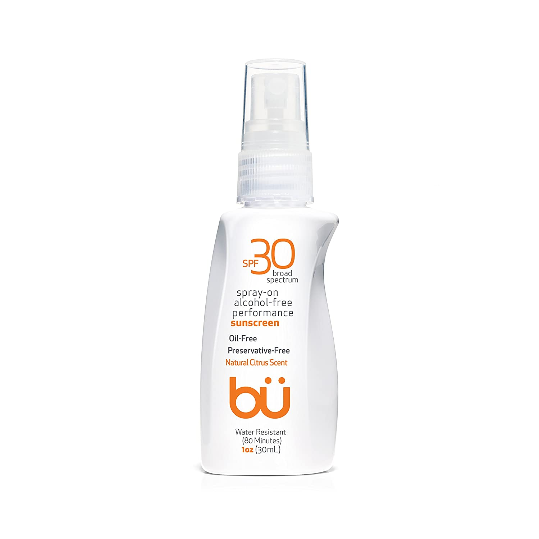 Bu SPF 30 Ultrafine WOWmist Sunscreen Spray - Clear, Non Greasy, Non Toxic, Non Comedogenic. Sweat & Water-Resistant. Travel, Sport, Sensitive Skin (Natural Citrus, 1 oz)