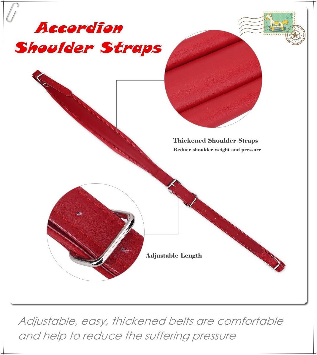 YouCY Adjustable Accordion Shoulder Straps Adjustable Soft Accordion Shoulder Straps Set Comfortable Accordion Belt,White
