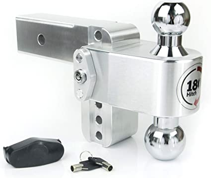 Chrome Plated Steel Combo Ball Adjustable Aluminum Trailer Hitch /& Ball Mount and a Double-pin Key Lock 10 Drop 180 Hitch w// 2 Shank//Shaft 2 /& 2-5//16 Weigh Safe CTB10-2