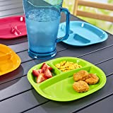 Harmony 3-Compartment Divided Plastic Kids Tray