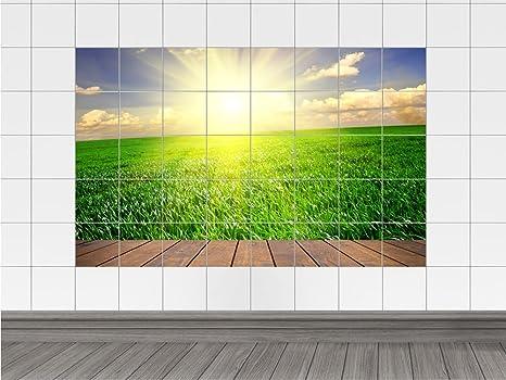 Piastrelle adesivo piastrelle immagine terrazza blick auf eine
