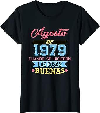 Amazon.com: Womens Camiseta 40 anos cumpleanos Agosto Mujer ...