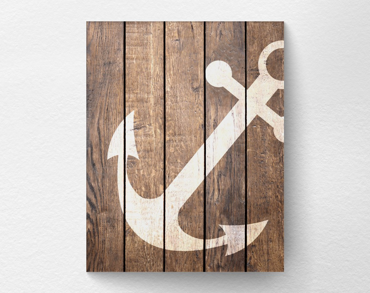 Amazon Com Nautical Anchor Wall Art Print Poster Decor Nautical