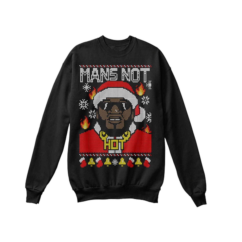 Funny 2017 Mens Xmas Sweatshirt Mans NOT HOT - Big Shaq Limited Edition Christmas Printed Sweater Fleece Jumper Novelty Vintage Retro Funny Gift