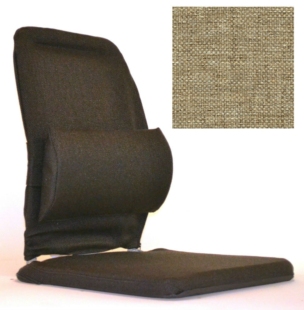 Sacro-Ease Back and Lumbar Support Car Cushion with Extra Padding - Light Brown Color