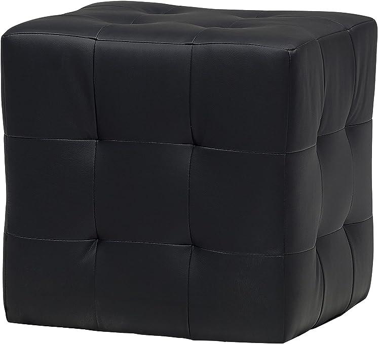 13 Casa Pouf Joy A1 schwarz 45 x 45 x 45 cm