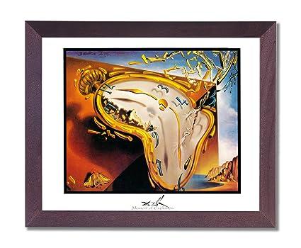 Dalí momento de reloj de explosión cuadro enmarcado arte impresión