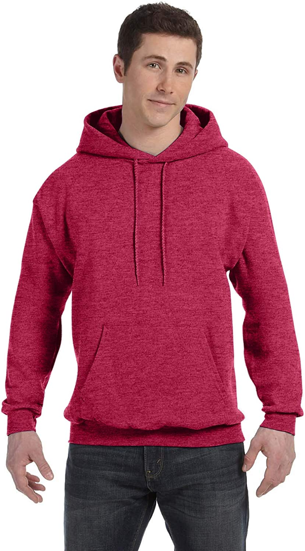 1 Kelly Hanes P170 Mens EcoSmart Hooded Sweatshirt Large 1 Cardinal