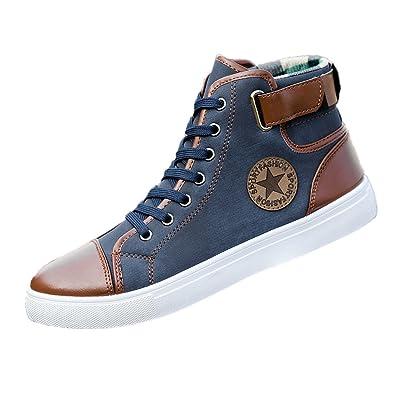 GongzhuMM Unisexe Chaussures en Toile Homme Femmes Hautes Espadrilles  Chaussures de Sport à Lacets Bottines Baskets 424655e75625