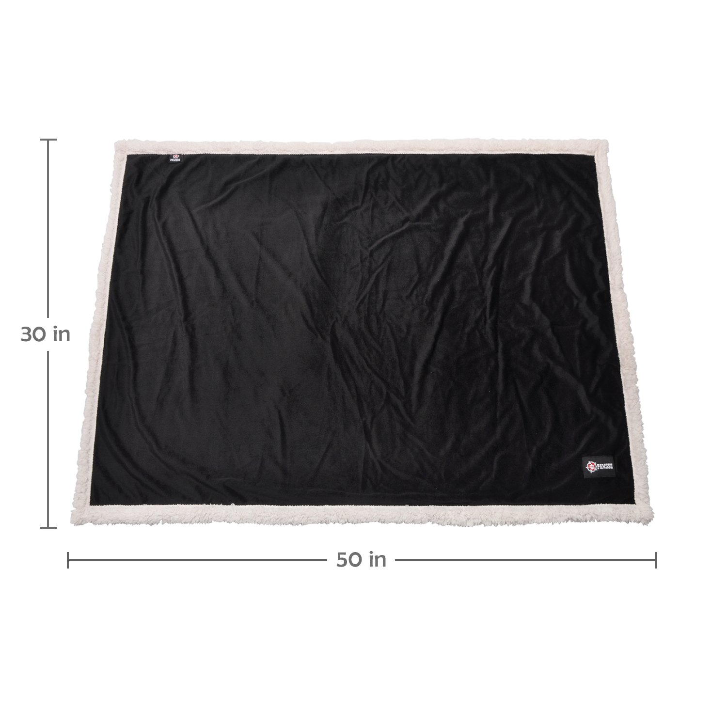 Puppy Blanket,Super Soft Sherpa Dog Blankets and Throws Cat Fleece Sleeping Mat for Pet Small Animals 45x30 Black by Pawsse (Image #7)