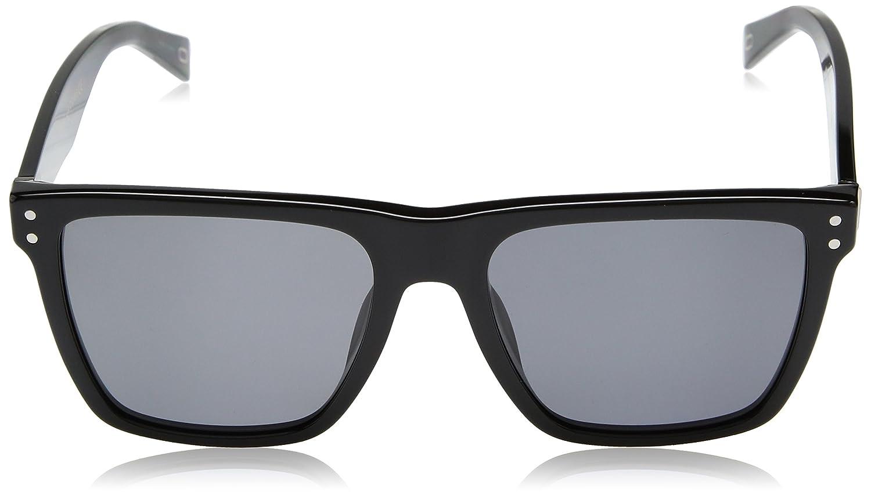 0858fa007836 Amazon.com: Marc Jacobs Men's Marc119s Polarized Rectangular Sunglasses,  BLACK, 54 mm: Clothing