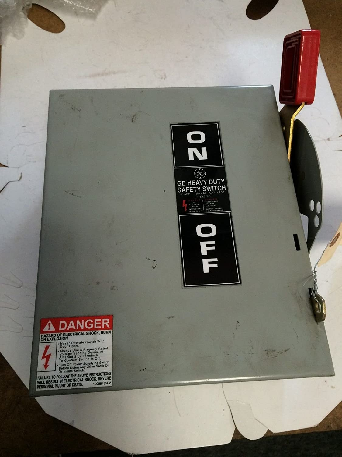 600VAC//250VDC CL NEW GE THN3361 DISCONNECT SWITCH GENERAL ELECTRIC 30A