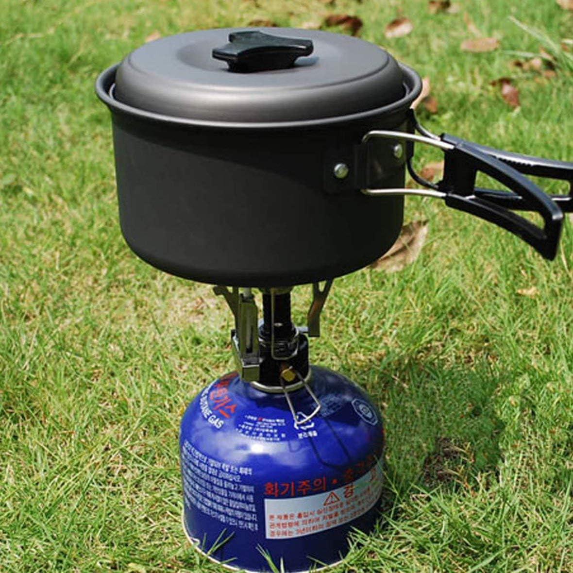 Zubeh/ör f/ür Outdoor-Ger/äte Heaviesk Automatischer tragbarer Gaskocher f/ür den Au/ßenbereich Wandern f/ür Camping klappbar