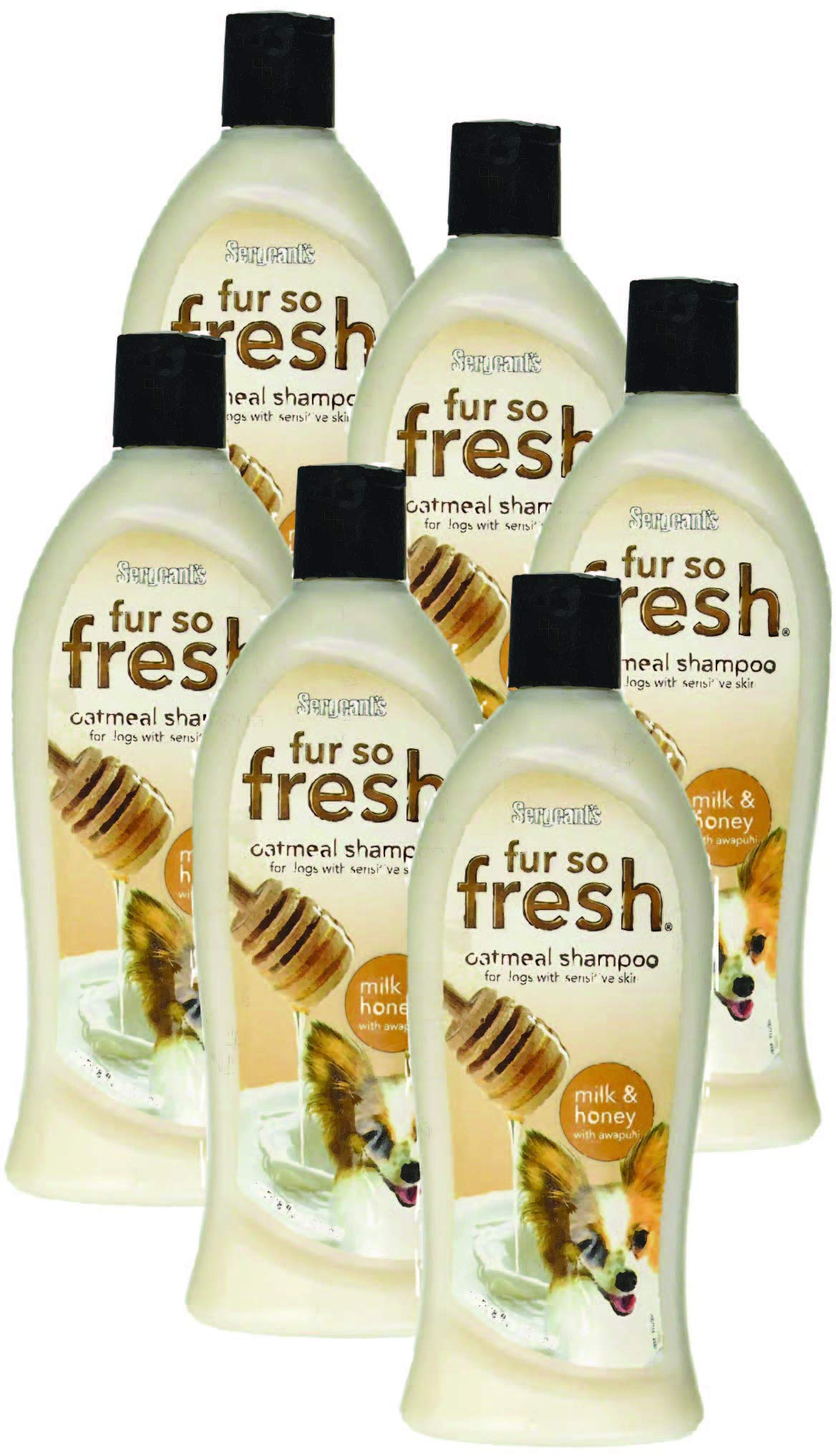 Sergeant's Fur So Fresh Shampoo Oatmeal with Awapuhi for Dogs 18 oz - Case of 6