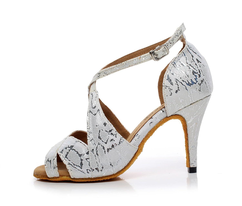 JSHOE Damen Latin Dance Schuhe Salsa/Tango/Tee/Samba/Modern/Jazz Schuhe  Sandalen High Heels,Grey-heeled8.5cm-UK6.5/EU40/Our41: Amazon.de: Schuhe &  ...
