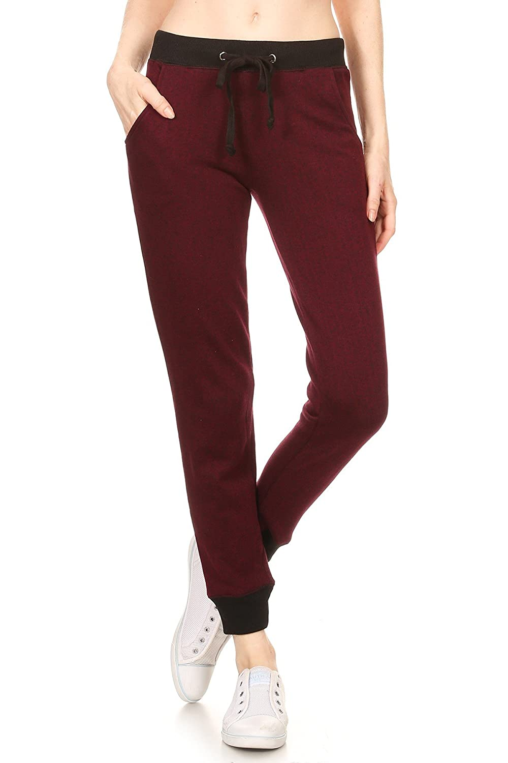 RouA Women's French Terry Jogger Sweatpants with Pockets