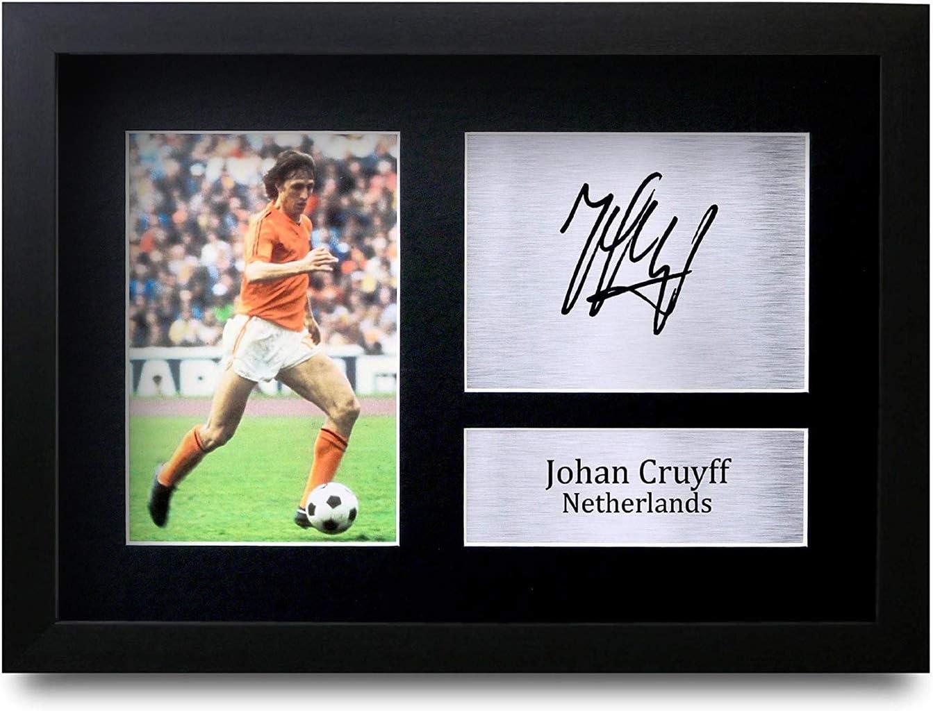 HWC Trading Johan Cruyff GERAHMTES Geschenke Unterzeichneten A4 Gedrucktes Autogramm Holland Foto-Anzeige