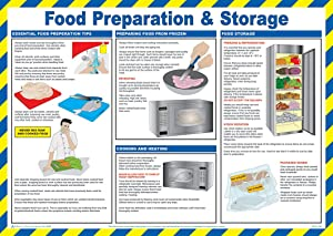 Safety First Aid Group Laminated Food Preparation and Storage Poster
