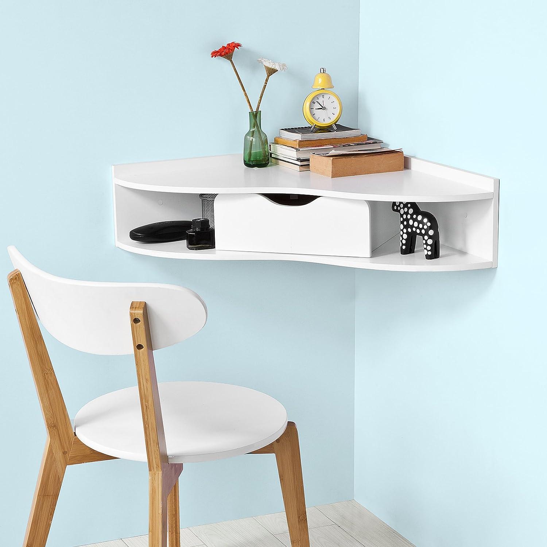 Amazon.com: Haotian Wall-mounted Drop-leaf Table, Folding Kitchen ...