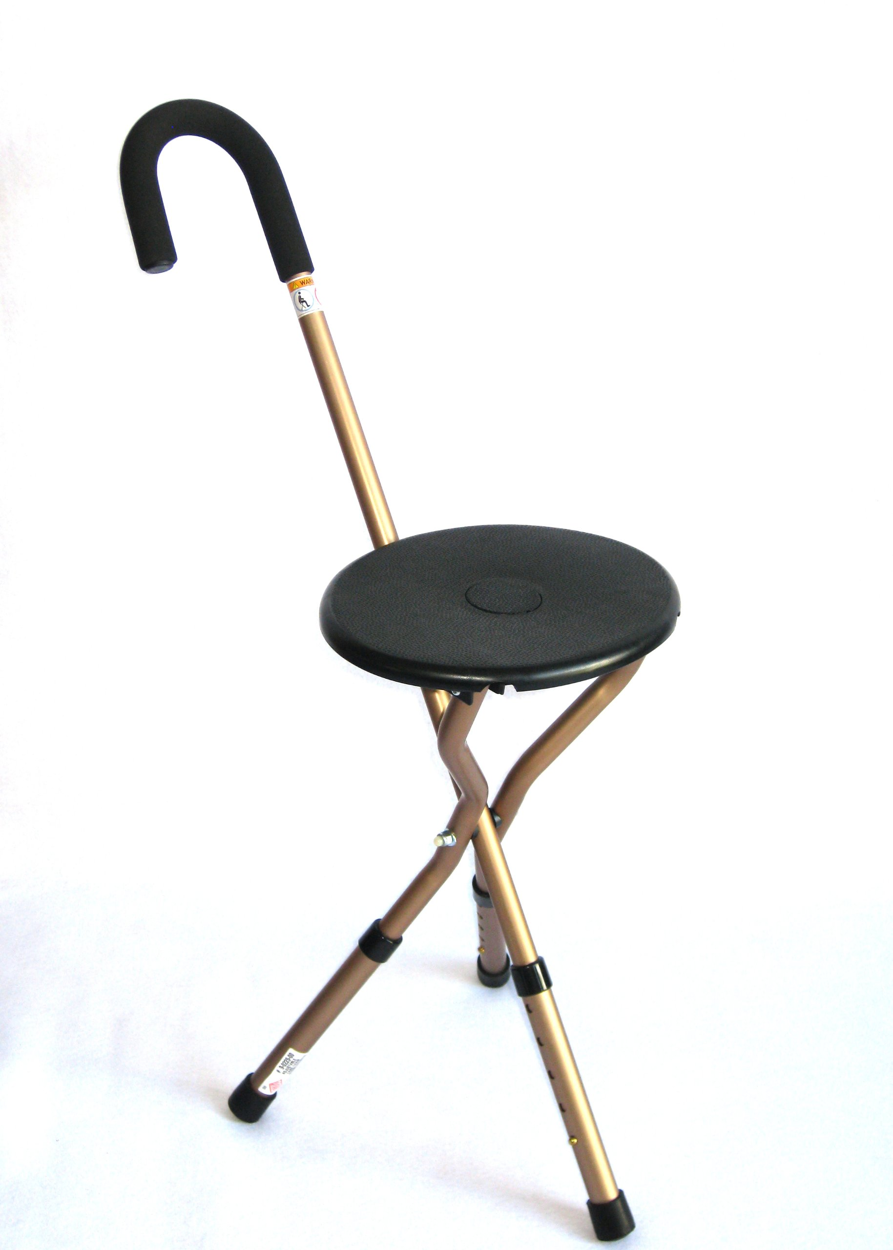 Harvy Seat Cane with Adjustable Legs - 225lbs Weight Max.