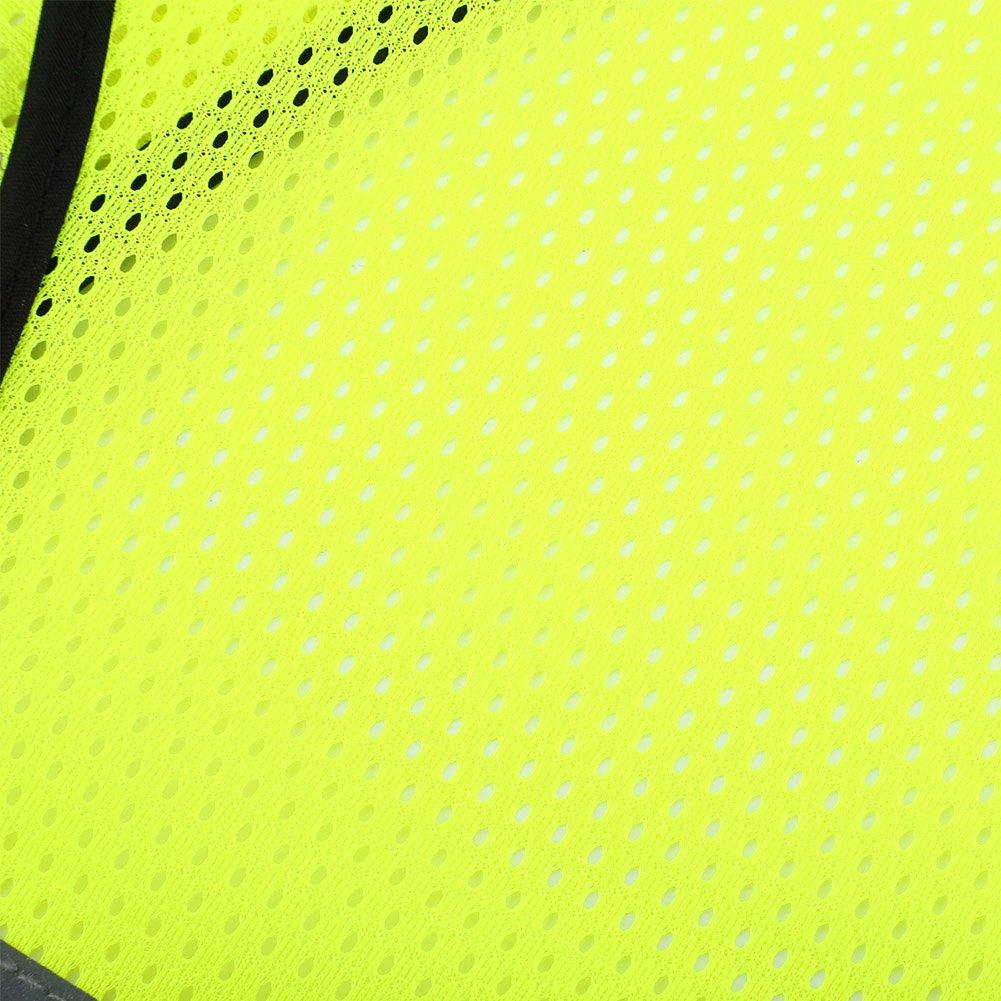Gilet da Corsa Giubbotto Riflettente ad Alta visibilit/à Regolabile con Tasca per Il Traffico Notturno di Sicurezza