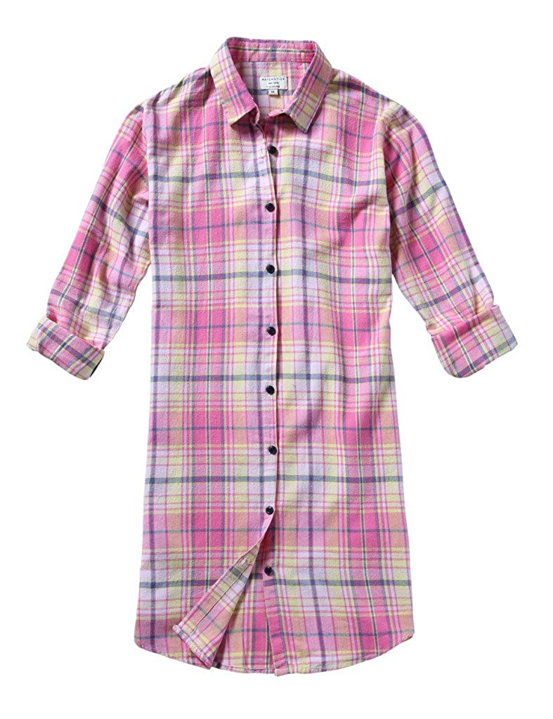 2026 Checks 2(no Tabs) Match Women's Long Sleeve Flannel Plaid Shirt