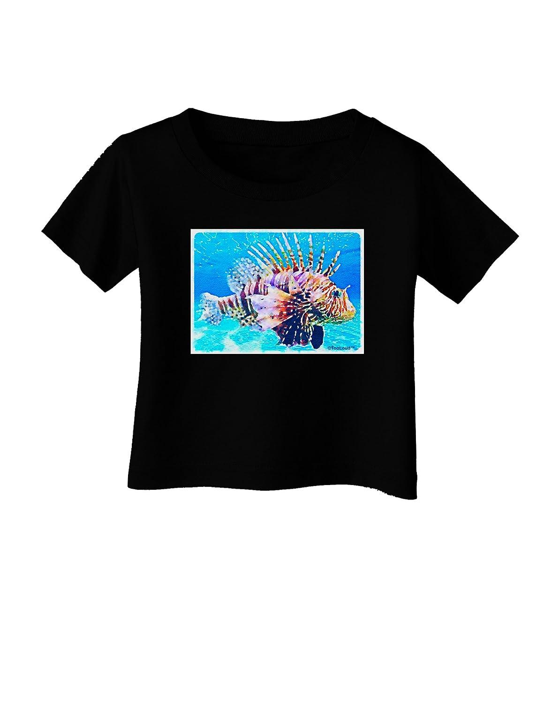 TooLoud Lionfish in Watercolor Infant T-Shirt Dark