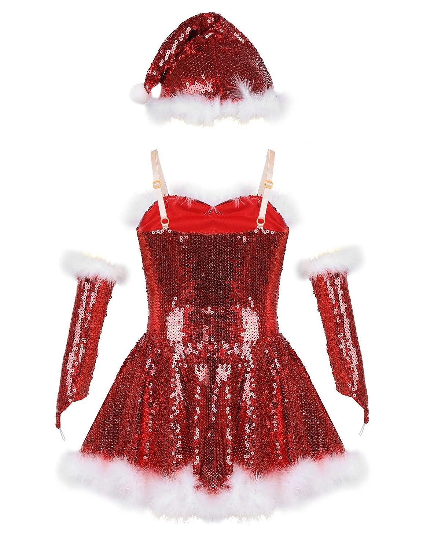 Amazon.com: CHICTRY - Disfraz de la Sra. Claus para niña ...