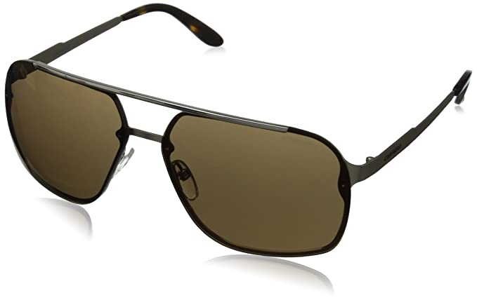 Amazon.com: Carrera CA91S Rectangular Sunglasses, Light Gold ...