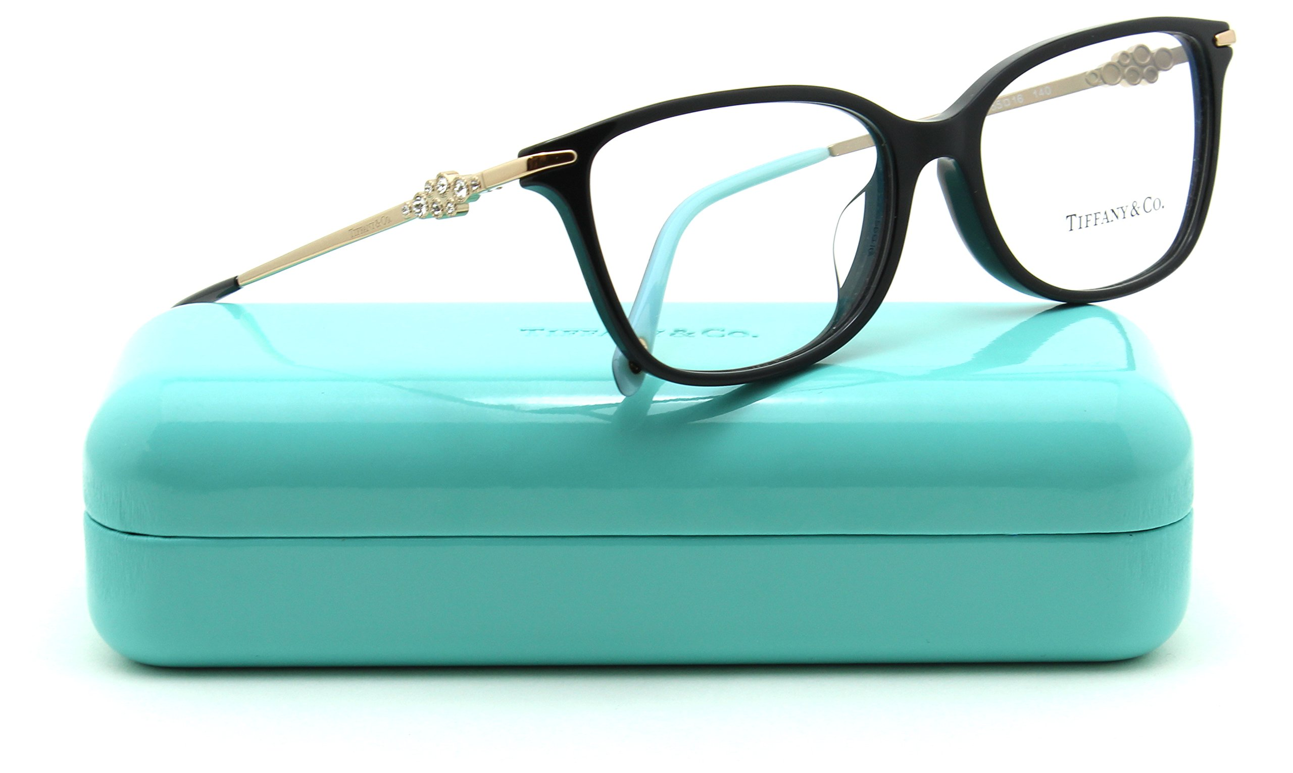 Tiffany & Co. TF 2133-B-F Women Eyeglasses RX - able Frame Asian Fit (Black 8001, 55) by Tiffany & Co.