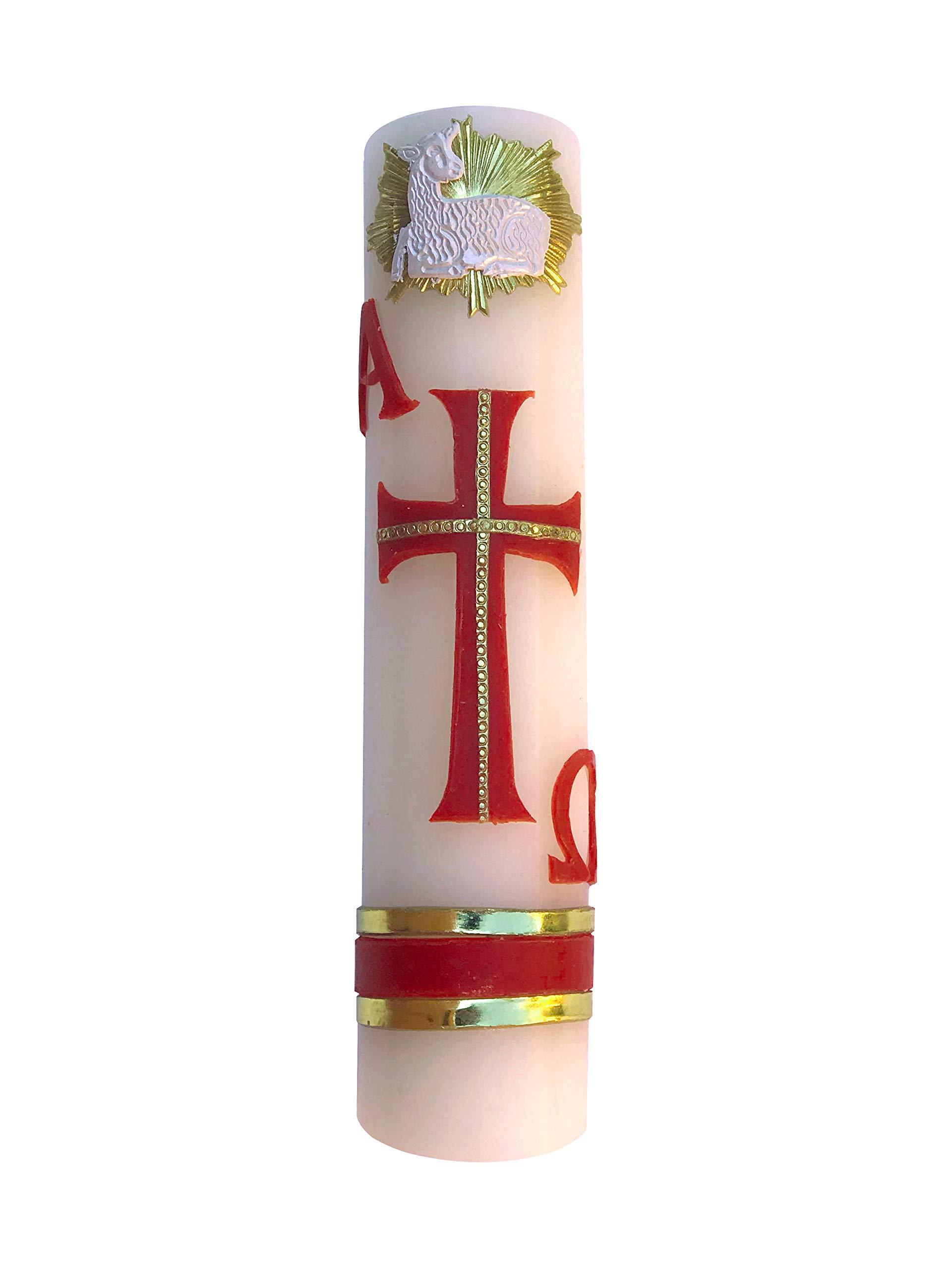 Angelitos de Mexico Alpha Omega Handmade Artisanal Sheep Candle Cirio Pascual Lent Easter Holy Week