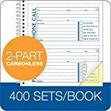 Adams Recycled Phone Message Book, 2-Part