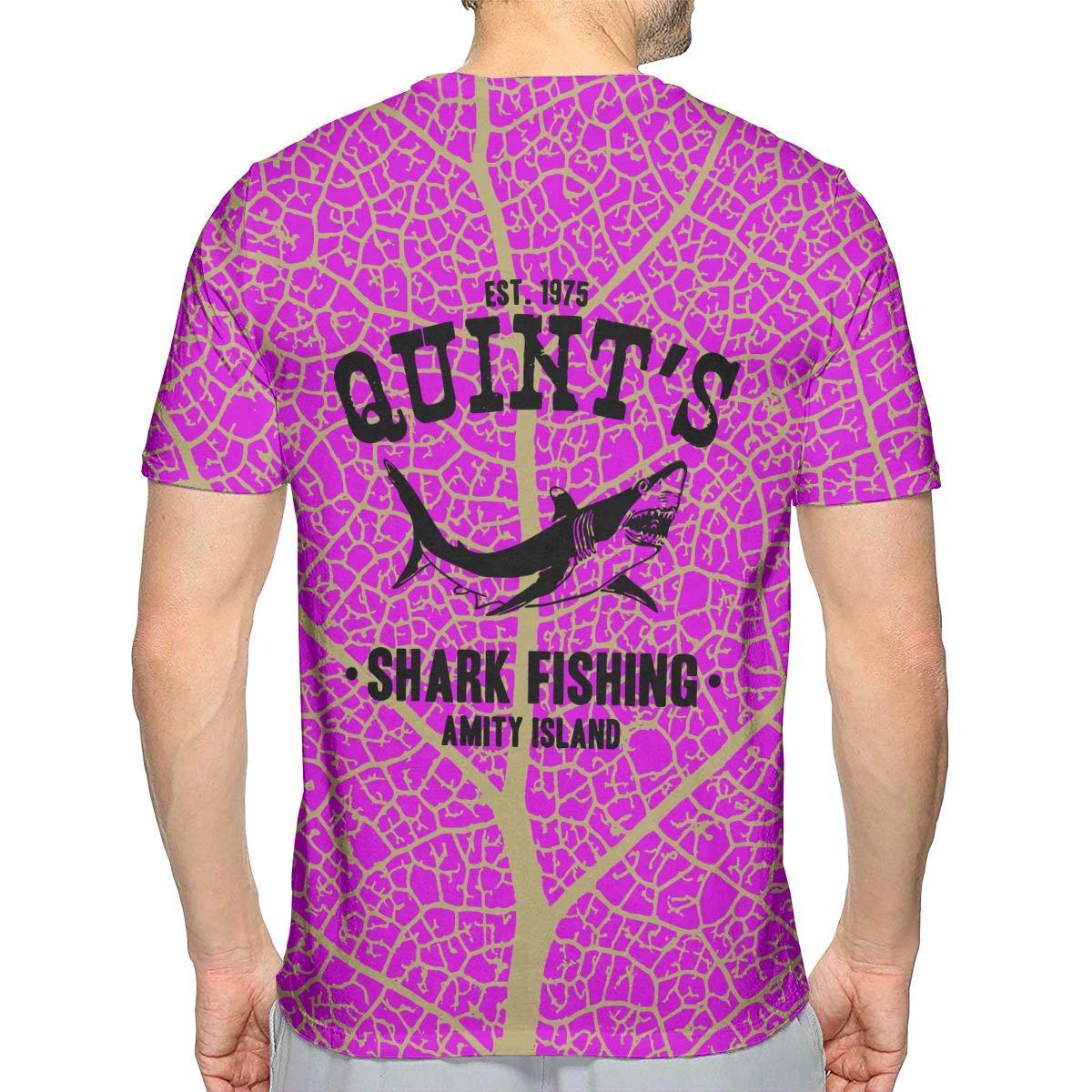 Quints Shark Fishing Mens Style Short-Sleeved T Shirts