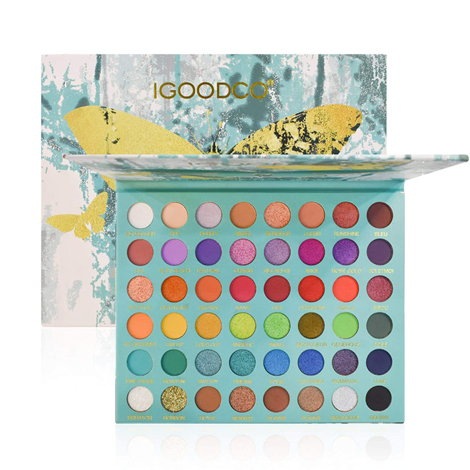 48 Colors Pro Makeup Eyeshadow Palette Anself High Pigmented Shimmer Matte Eyeshadow Makeup Palette Neutral Colorful Eye Cosmetic Sweatproof and Waterproof With Mirror