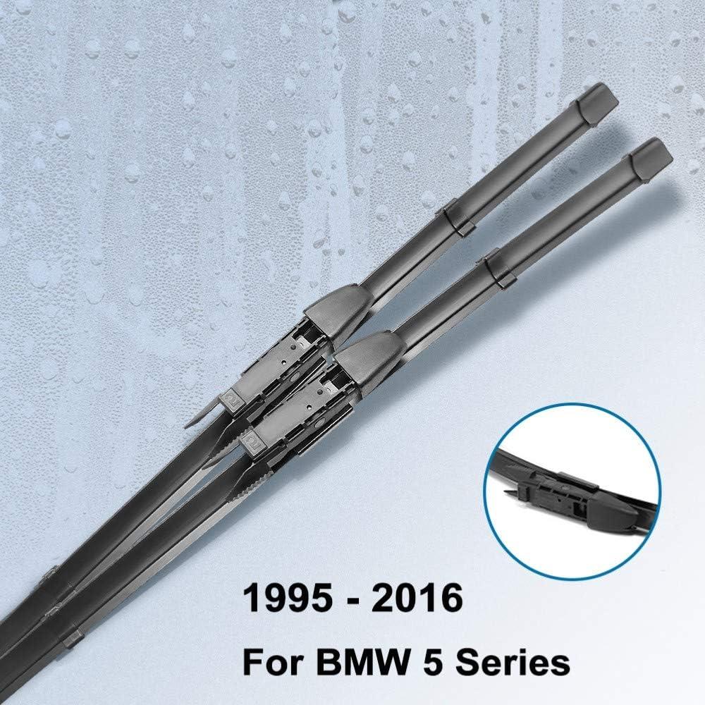 for BMW 5 E39 E60 E61 F07 F10 F11 520i 523i 525i 528i 530i 535i 540i 545i 518d 520d 525d 530d 535d car decoration car exterior car Wiper Blades XLTWKK Car wiper