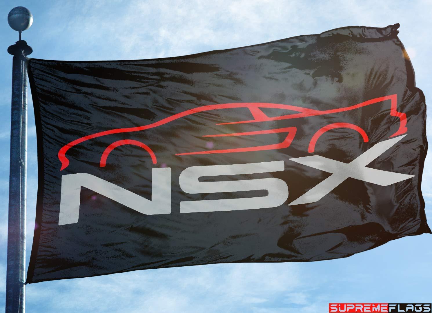 NSX Flag Banner (90 x 150 cm) Honda Acura Japanese Car Black Supreme Flags