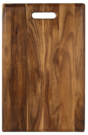 Architec 18 x 11 Inch Non-Slip Acacia Wood Cutting/Serving Board with Handle : Target