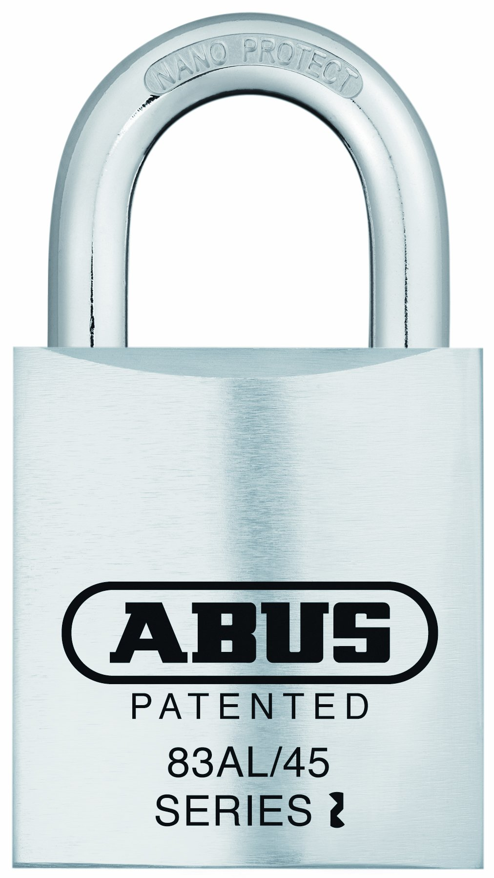 ABUS 83AL/45-300 S2 Rekeyable Padlock Aluminum Body with 1-Inch Shackle, Silver Zero-Bitted