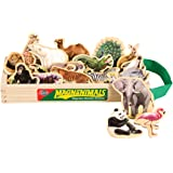 T.S. Shure Wild Animals Wooden Magnets 20 Piece MagnaFun Set