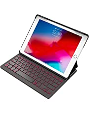 Inateck Backlit iPad Bluetooth Keyboard Case, Keyboard Cover fit 9.7 inch iPad 2018/2017 and iPad Air1 Only with Multi-Angle Stand,Black