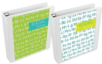 amazon com teal alphabet binder insert set custom binder inserts