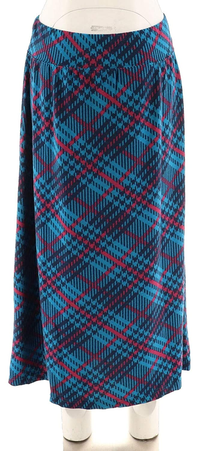 e0492f9da Plaid Printed Pull-on Maxi Skirt A282386 at Amazon Women's Clothing store: