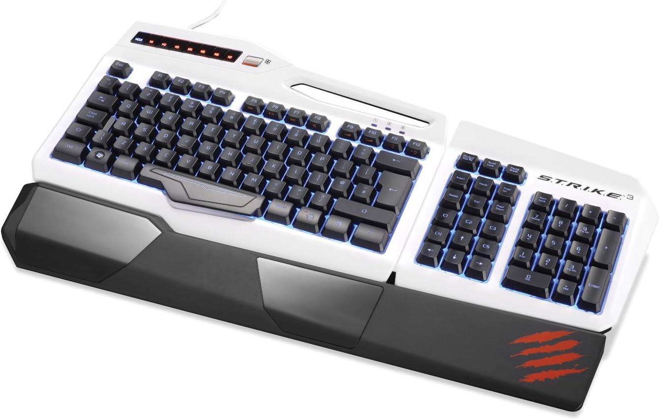 Mad Catz STRIKE 3 - Teclado (USB, PC/Server, Juego, Color Blanco, Varios, USB)