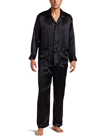 Intimo Men's Classic Silk Pajamas at Amazon Men's Clothing store ...